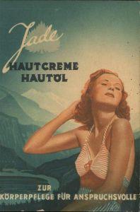 Werbung Reklame Jade Hautcreme Hautoel Bikini Berlin Kat. Werbung