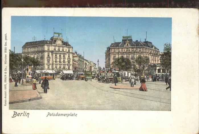 Strassenbahn Potsdamer Platz Berlin  Kat. Strassenbahn