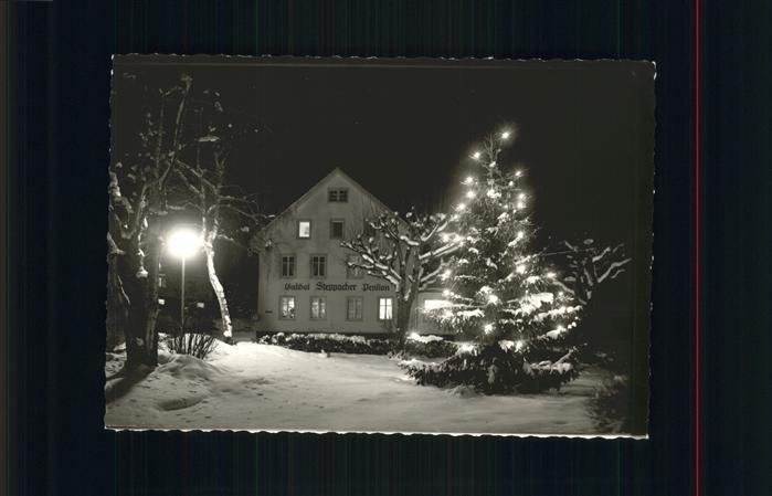 Friedenweiler Gasthof Steppacher Pension Christbaum Weihnachten Kat. Friedenweiler