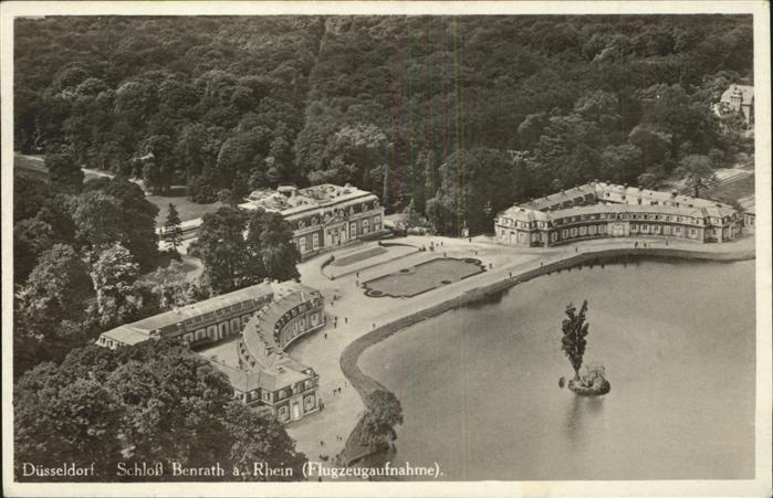 Duesseldorf Schloss Benrath am Rhein Fliegeraufnahme Kat. Duesseldorf