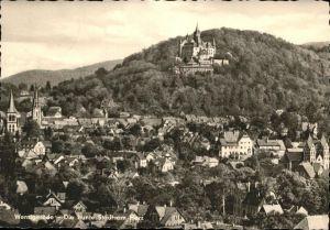 aw05929 Wernigerode Harz Gesamtansicht Kategorie. Wernigerode Alte Ansichtskarten