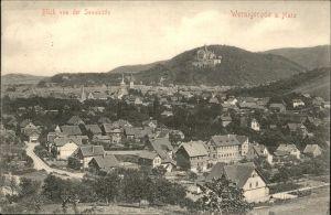 aw06177 Wernigerode Harz Gesamtansicht Kategorie. Wernigerode Alte Ansichtskarten