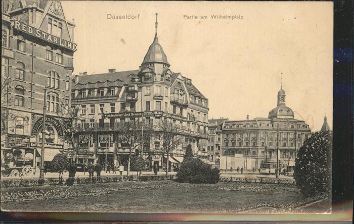 Duesseldorf Partie am Wilhelmsplatz Kat. Duesseldorf