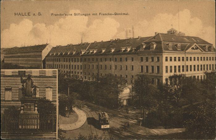 Halle Saale Francke sche Stiftungen Francke Denkmal Kat. Halle