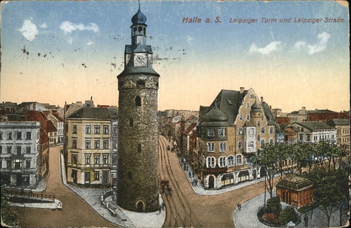 Halle Saale Leipziger Turm Leipziger Strasse Kat. Halle