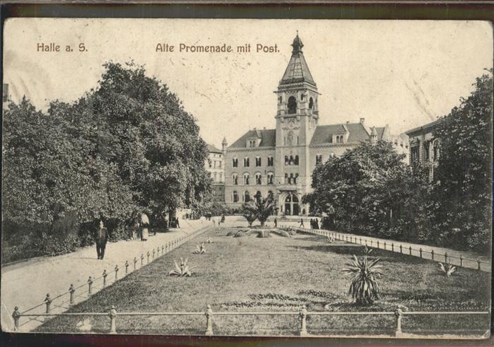 Halle Saale Alte Promenade Post Kat. Halle