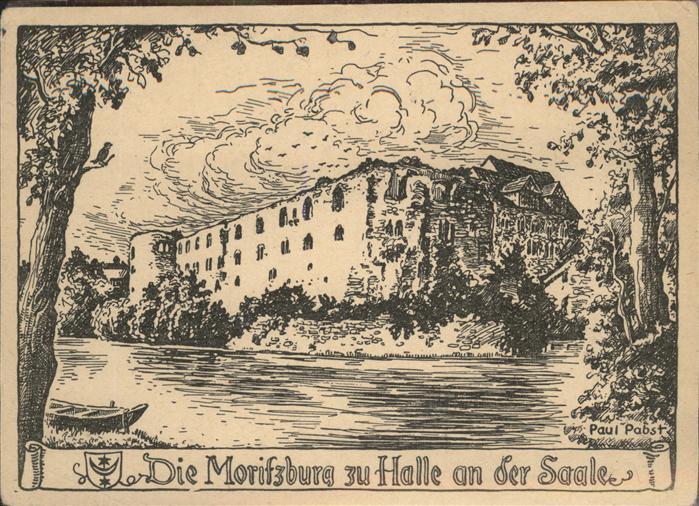 Halle Saale Moritzburg Kuenstlerkarte Paul Pabst Kat. Halle