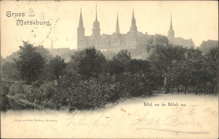 Merseburg Schloss von Schleuse aus Kat. Merseburg