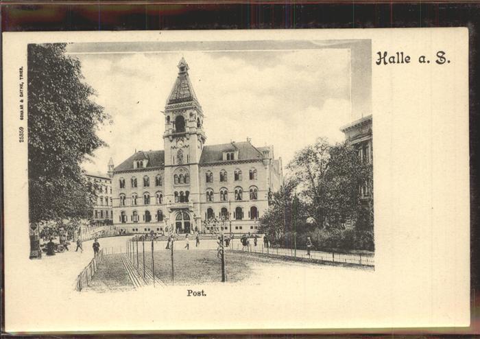 Halle Saale Post Kat. Halle