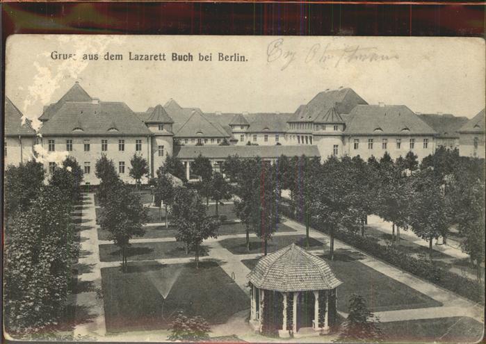 Berlin Lazarett Buch Pavillon Feldpost Kat. Berlin