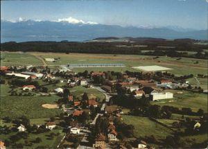 kk26360 Biere VD Les Casernes Lac Leman Mont Blanc Fliegeraufnahme Kategorie. Biere Alte Ansichtskarten