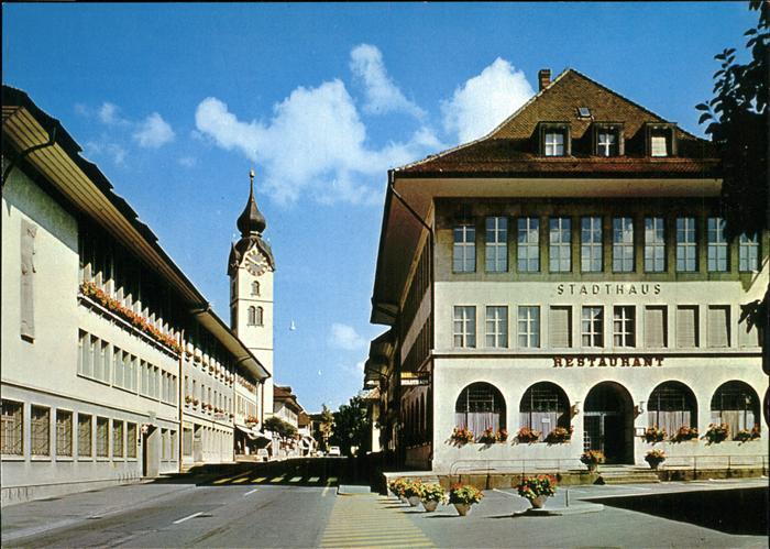 Huttwil Marktgasse Kirchgemeindehaus Stadthaus Kat. Huttwil