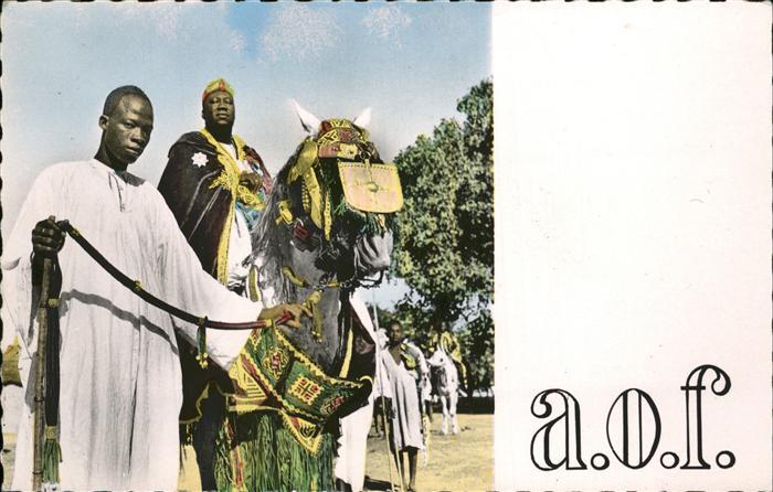 Ouagadougou Empereur des Mossis et ses Palefreniers Pferd Kat. Ouagadougou