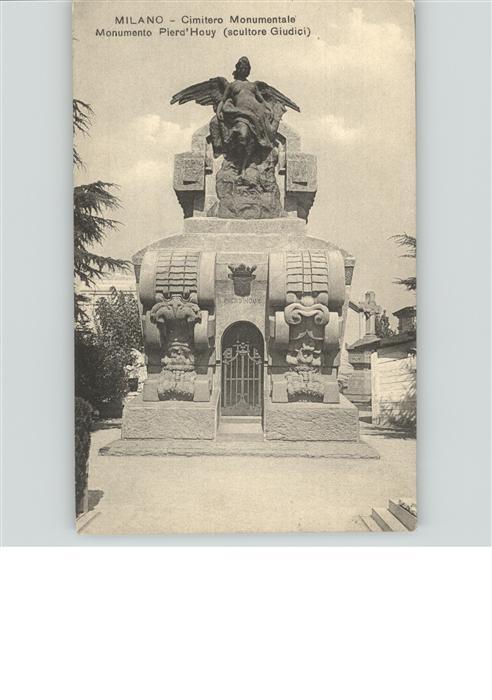 Milano Lombardia Cimitero Monumentale Monument Pierd Houy scultore Giudici Skulptur Denkmal Kat. Milano