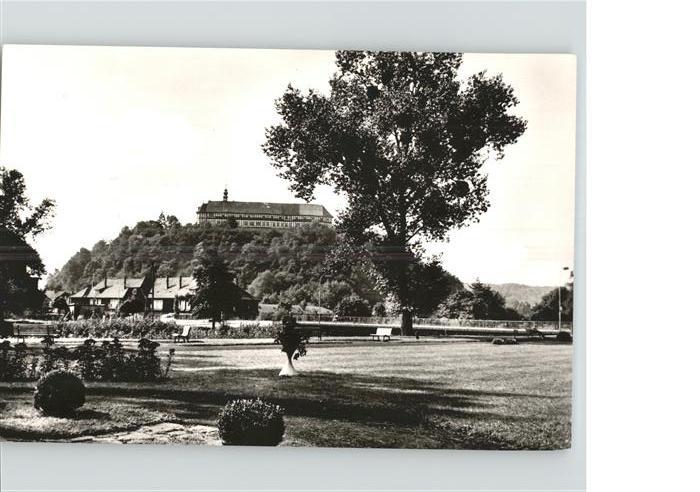 Herzberg Harz Blick zum Schloss Parkanlagen Kat. Herzberg am Harz