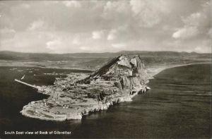 Gibraltar South East view of Rock Kat. Gibraltar