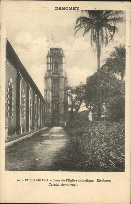 Porto Novo Tour de l Eglise catholique Kat. Porto Novo