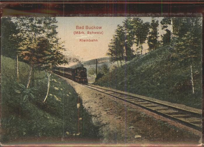 Buckow Maerkische Schweiz Eisenbahn Kleinbahn Kat. Buckow Maerkische Schweiz