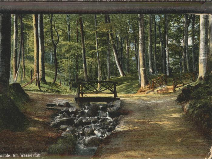 Eberswalde Partie am Wasserfall Waldstadt Kat. Eberswalde