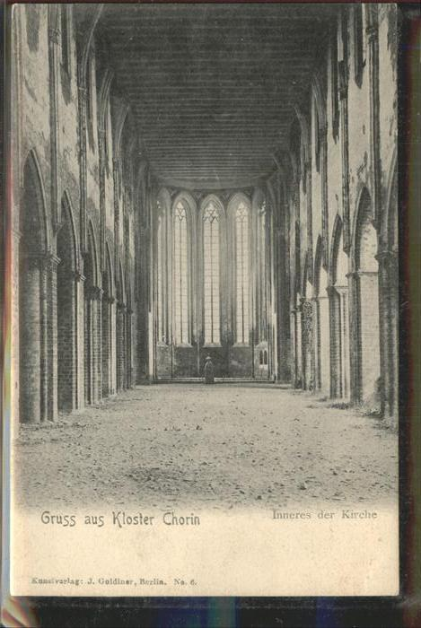 Chorin Kloster Inneres der Kirche Kat. Chorin