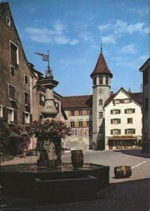Maienfeld Staedtliplatz mit Rathaus Kat. Maienfeld