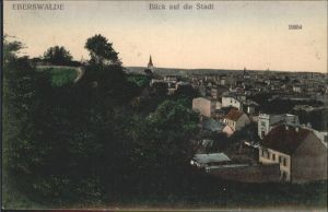 Eberswalde Blick auf die Stadt Kat. Eberswalde