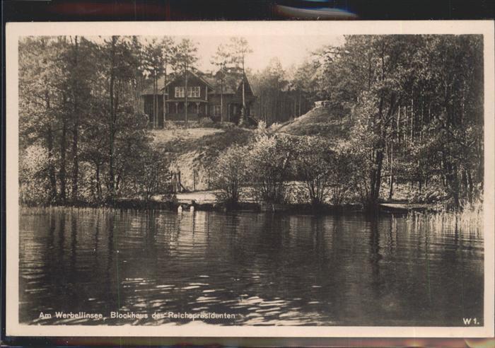 Altenhof Eberswalde Blockhaus des Reichspraesidenten Kat. Schorfheide