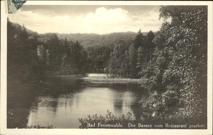 Bad Freienwalde Blick auf den Baasee Kat. Bad Freienwalde