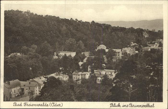Bad Freienwalde Blick ins Brunnenthal Kat. Bad Freienwalde