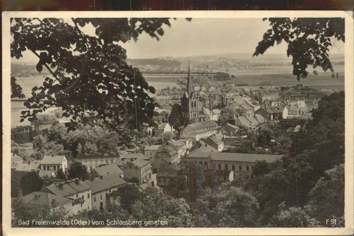 Bad Freienwalde Blick vom Schloss Kat. Bad Freienwalde
