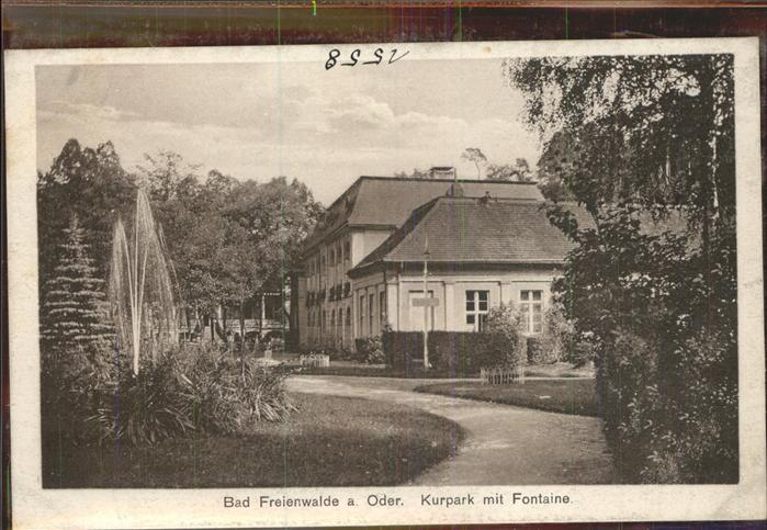 Bad Freienwalde Kurpark Fontaene Kat. Bad Freienwalde