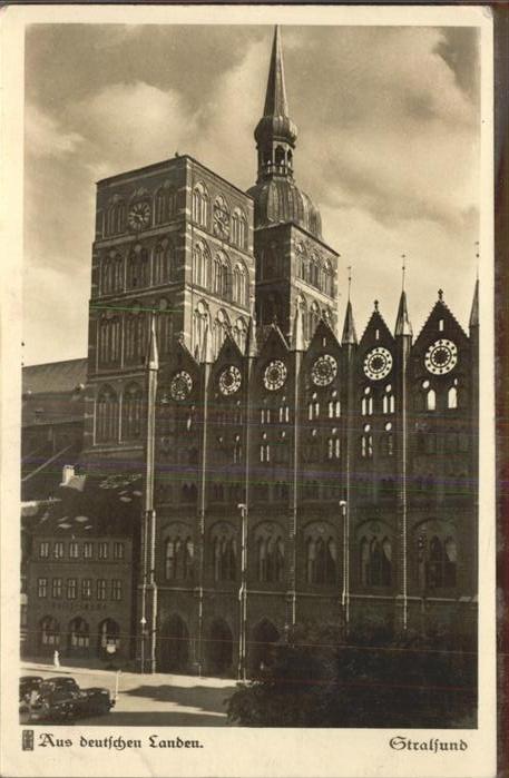 Stralsund Mecklenburg Vorpommern deutschen Landen Rathaus Nicolaikirche Kat. Stralsund