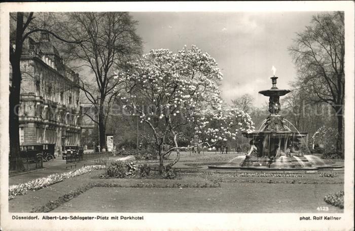 Duesseldorf Albert Leo Schlageter Platz mit Parkhotel Kat. Duesseldorf