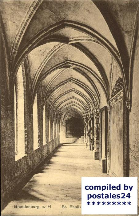 Brandenburg Havel Inneres der St.Paulikirche Kat. Brandenburg