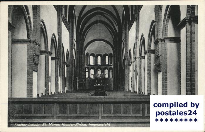 Lehnin Inneres der St.Marien Kloster Kirche Kat. Kloster Lehnin
