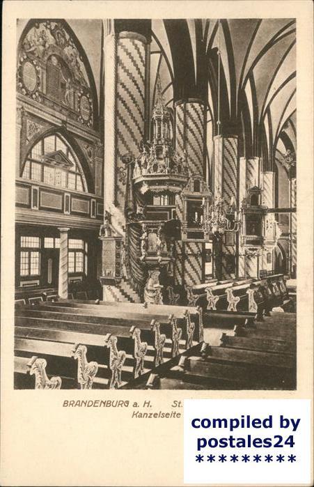 Brandenburg Havel Inneres der St.Gotthardtkirche (Kanzrlseite) Kat. Brandenburg
