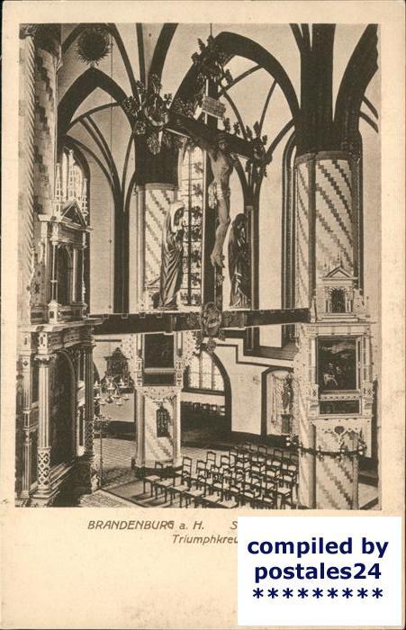 Brandenburg Havel Inneres der St.Gotthardtkirche (Triumphkreuz) Kat. Brandenburg