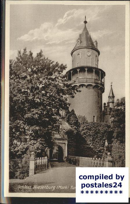 Wiesenburg Mark Schloss Turm Auffahrt Kat. Wiesenburg Mark