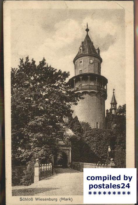 Wiesenburg Mark Turm Auffahrt Kat. Wiesenburg Mark