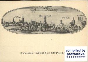 Brandenburg Nach einem Kupferstich Kat. Brandenburg