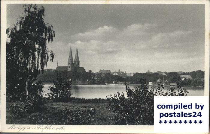 Neuruppin Panorama Kirche Kat. Neuruppin