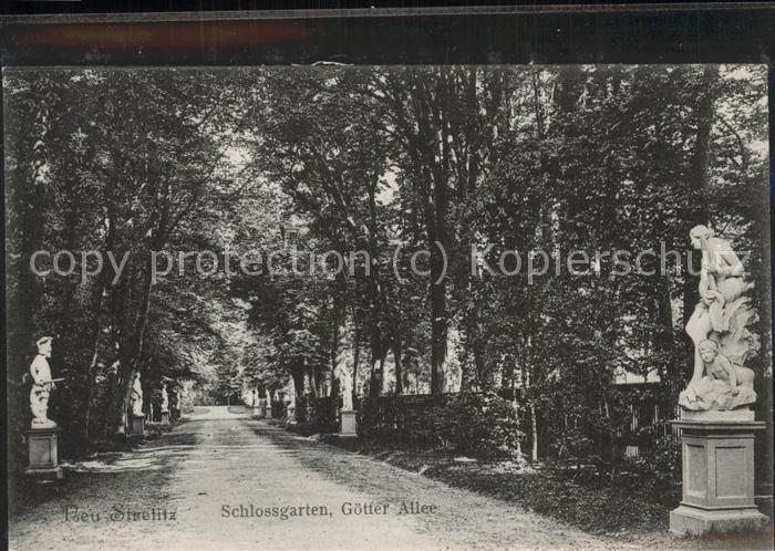 Neustrelitz Schlossgarten G?tterallee Kat. Neustrelitz