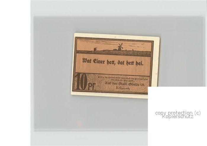 strelitz alt altstrelitz gutschein 10 pfennig reutergeld neustrelitz mecklenburg strelitz lkr. Black Bedroom Furniture Sets. Home Design Ideas