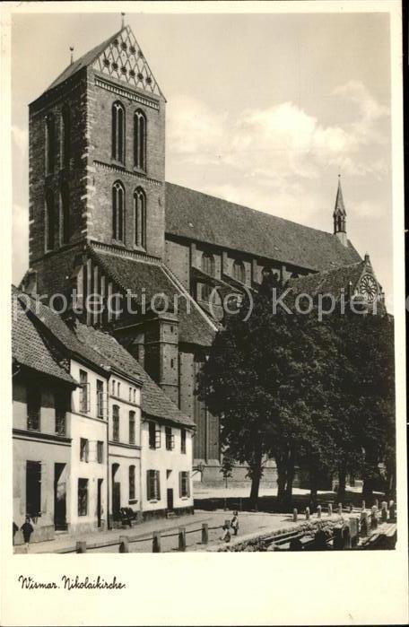 Wismar Mecklenburg Vorpommern Nikolaikirche / Wismar /Wismar Stadtkreis