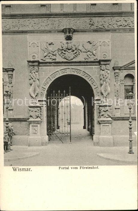 Wismar Mecklenburg Vorpommern Portal vom Fuerstenhof / Wismar /Wismar Stadtkreis