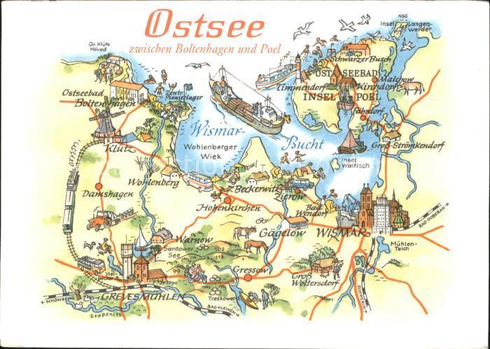 Karte Insel Poel Und Umgebung.Boltenhagen Ostseebad Landkarte Von Ostsee Zwischen Boltenhagen Und Insel Poel Kat Ostseebad Boltenhagen