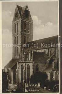Wismar Mecklenburg Vorpommern St. Marienkirche / Wismar /Wismar Stadtkreis
