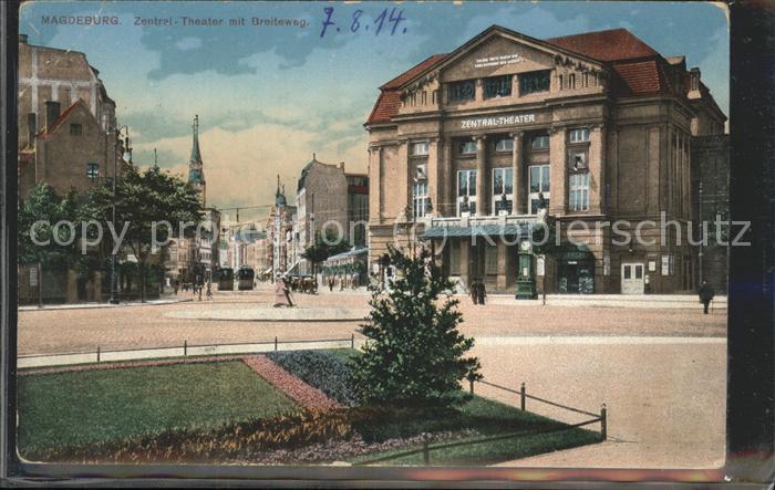 Magdeburg Breiteweg Zentral Theater Kat. Magdeburg