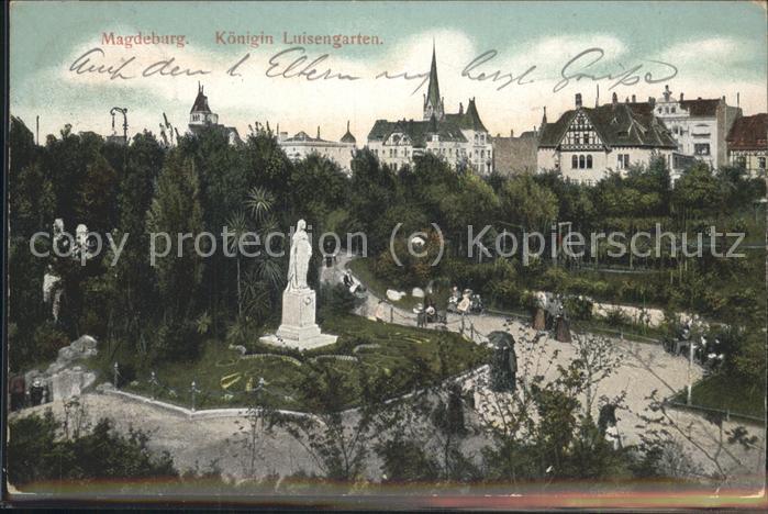 Magdeburg Koenigin Luisengarten Kat. Magdeburg