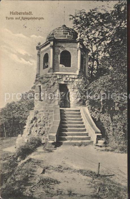 Halberstadt Turm auf Spiegelsbergen Kat. Halberstadt